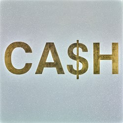 CA$H by Rory Hancock -  sized 39x39 inches. Available from Whitewall Galleries
